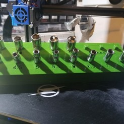Download free 3D printer model Socket Holder 1\4 Drive, simonlewis962