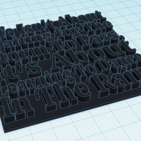 Annotation 2019-05-26 204452.jpg Download free STL file Inspiring Quote  • 3D printing object, ACD300