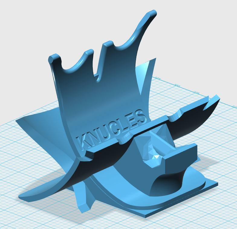 123KNUCKLES-3.JPG Télécharger fichier STL gratuit Détenteur d'un bracelet électronique • Objet imprimable en 3D, xutano