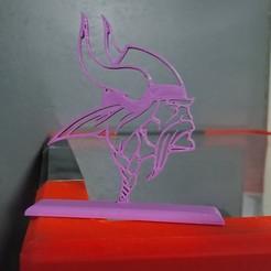 Download 3D printing designs Minnesota Vikings Team Logo, Projedel