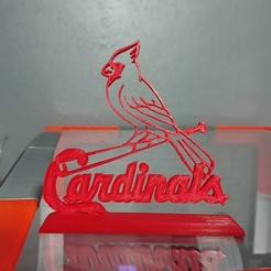 Download 3D printer designs St. Louis Cardinals Logo, Projedel