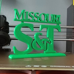 Download 3D printing designs S&T logo Missouri University of Science and Technology, Projedel