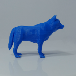3D print files Low Poly Wolf, Projedel