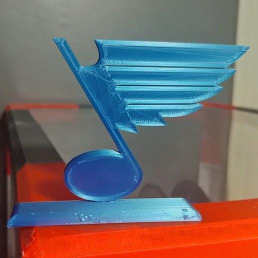 Download 3D printer designs St. Louis Blues Logo, Projedel