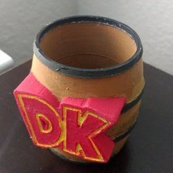 Free 3D print files Donkey Kong Barrel hollow, greenbox6