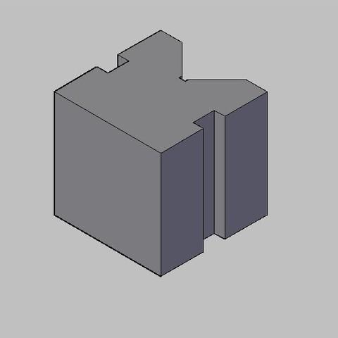 Download free 3D printer designs V Block, sanjib