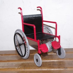 IMGP7273.JPG Download free STL file A wheelchair for a Barbie doll. • 3D print object, thecartoon