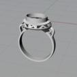 Descargar archivos 3D Sortija Cabujón, Advinge