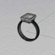 Descargar modelos 3D para imprimir Sortija para piedra de 12x9, Advinge