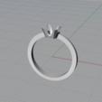Imprimir en 3D Sortija tipo solitario, Advinge