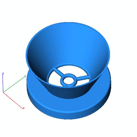 Download free 3D printing templates Trichter / Funnel, ralfmolllingen