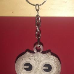 Télécharger STL Porte-clés hibou - Owl Keychain modèle d'impression 3D, Rayner80