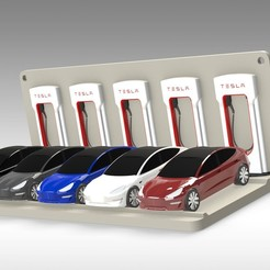 Untitled 716.jpg Download STL file Tesla Hot Wheels Stand • 3D printing model, Trikonics
