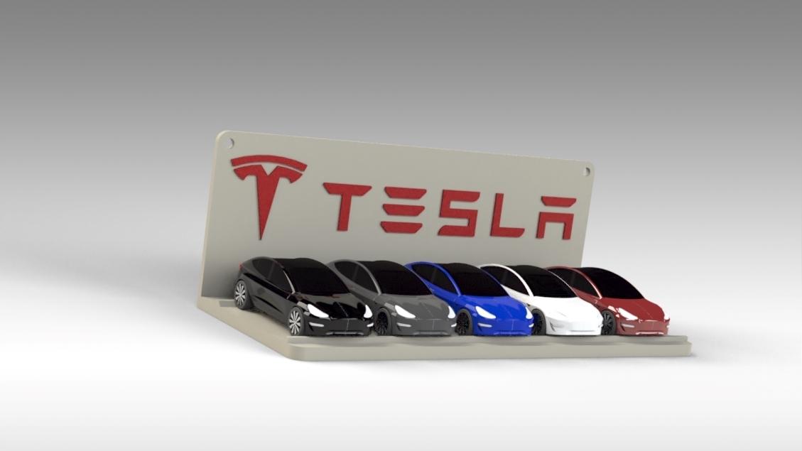 Untitled 691.jpg Download STL file Tesla Hot Wheels Stand • 3D printing model, Trikonics