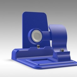 3D printing model iPhone, Watch and iPad Docking Station - MODULAR Design, Trikonics