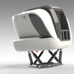 STL file AIRCRAFT FLIGHT SIMULATOR CAE 5000 Series - with MINI SIMULATOR INCLUDED, Trikonics