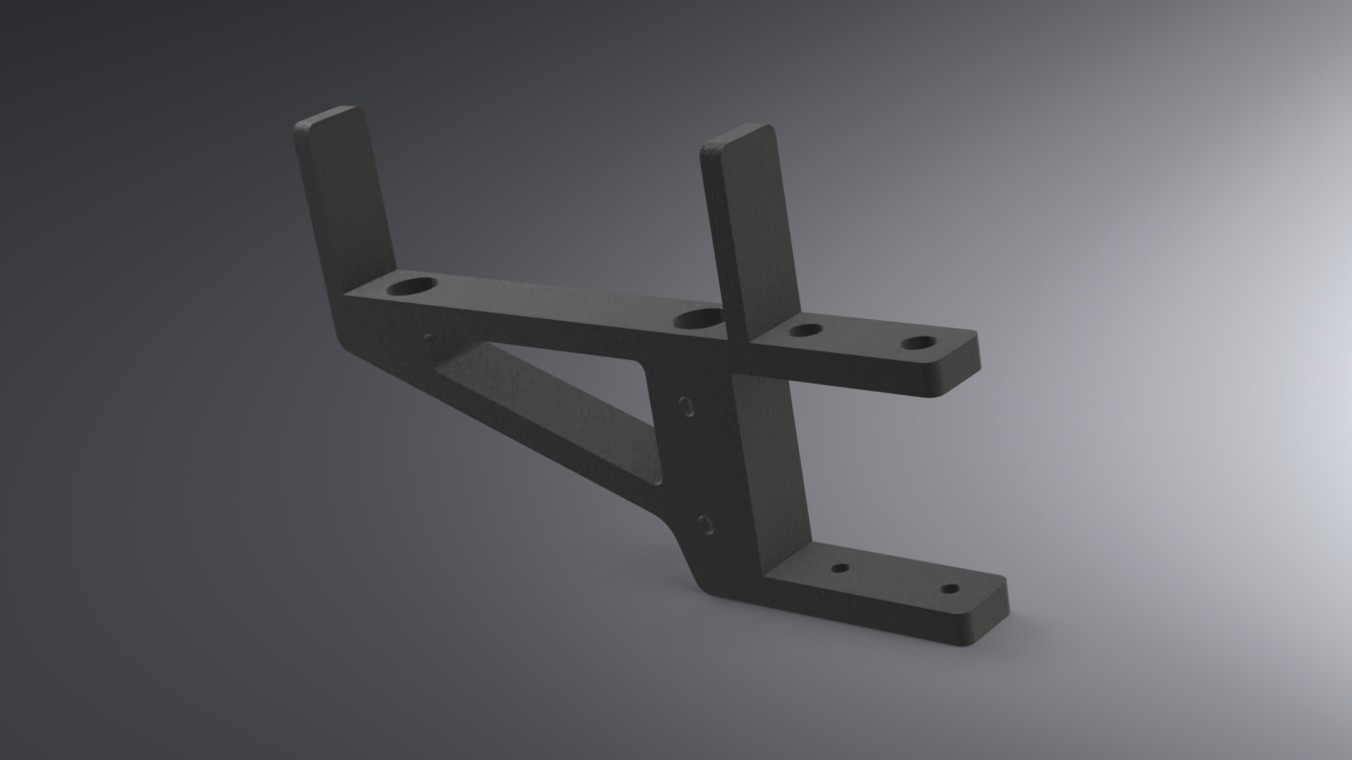 LACK Table CR-10 Control Box Support (4).jpg Download free STL file IKEA LACK Table CR-10 Control Box Support Bracket  • Object to 3D print, Trikonics