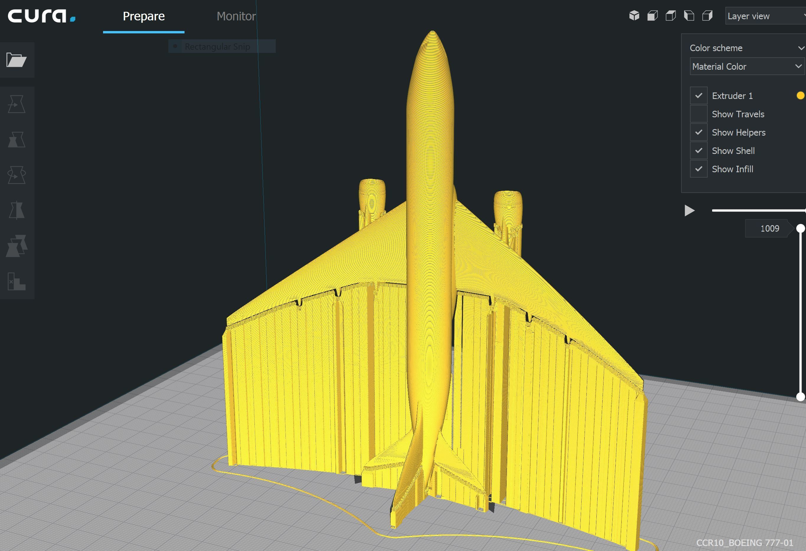 Cura-2.JPG Download STL file BOEING - ANDROID - CELL PHONE AND TABLET HOLDER • 3D printing model, Trikonics