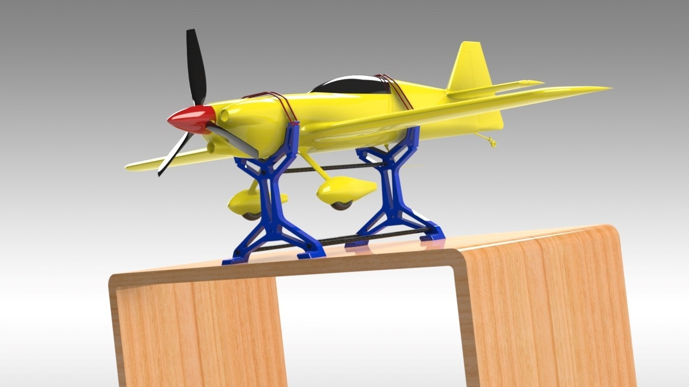 """RC Table Stand (12).jpg Download STL file Table STAND for RC PLANE """"IRONMAN"""" • 3D print template, Trikonics"""