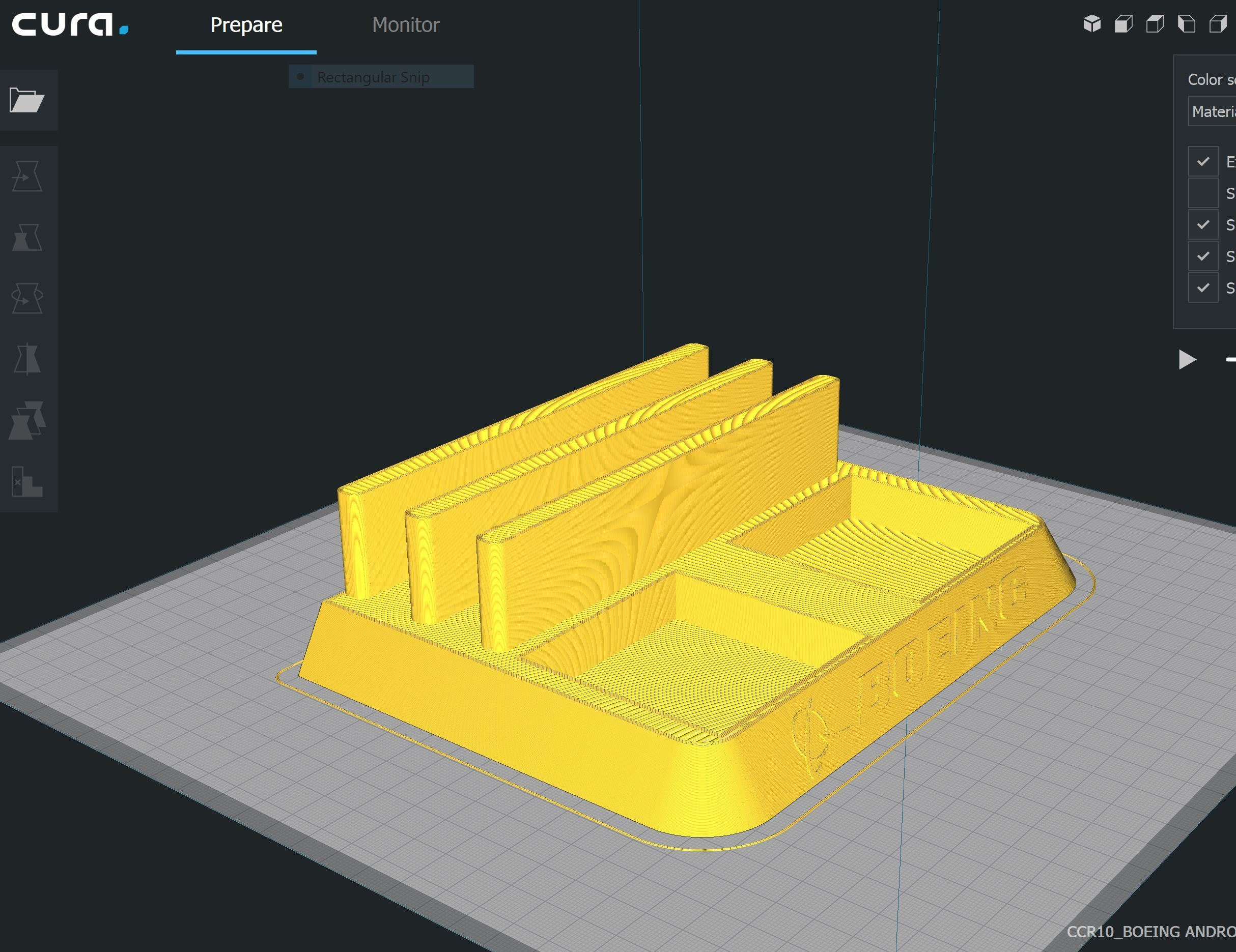 Cura-1.JPG Download STL file BOEING - ANDROID - CELL PHONE AND TABLET HOLDER • 3D printing model, Trikonics