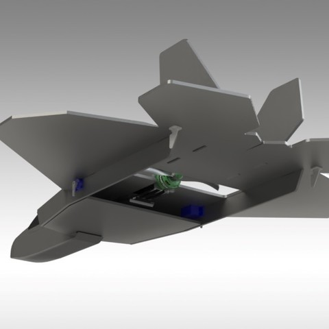 F22 Hybrid (9).jpg Download free STL file RC F22 Jet - Hybrid Build Concept using FliteTest Mighty Mini F-22 Raptor • 3D printing object, Trikonics