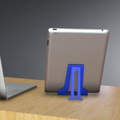 Descargar modelo 3D Soporte de Tablet Plegable para iPad, E-Reader Tablets y iPhone 10 y 10 MAX & iPhone Plus Tamaños, Trikonics