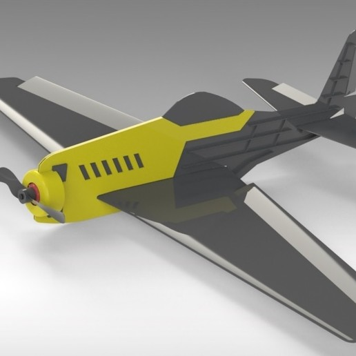 Untitled 629.jpg Download free STL file V1 Release - New RC Plane • 3D printable design, Trikonics