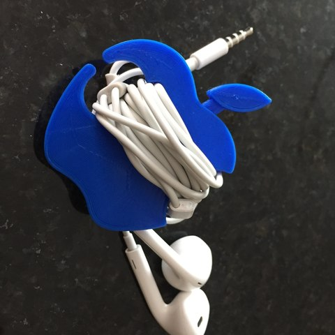 Free 3D printer designs Apple Earbud Cord Wrap, Trikonics