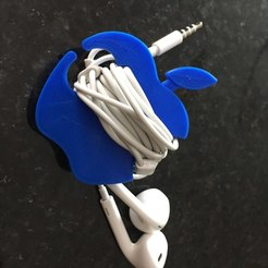 Download free STL files Apple Earbud Cord Wrap, Trikonics