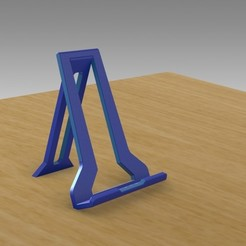 3D print files Folding Tablet Stand for iPad, E-Reader Tablets and iPhone 10s MAX, Trikonics