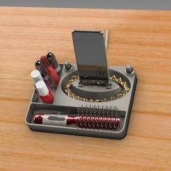 Télécharger fichier impression 3D gratuit Organisateur de maquillage Smart Dock, Trikonics