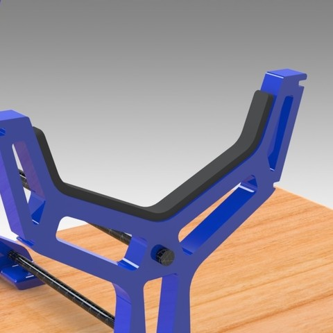"""RC Table Stand (8).jpg Download STL file Table STAND for RC PLANE """"IRONMAN"""" • 3D print template, Trikonics"""