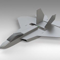 Free STL file RC F22 Jet - Hybrid Build Concept using FliteTest Mighty Mini F-22 Raptor, Trikonics