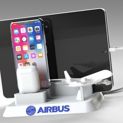 Untitled 623.jpg Download STL file Airbus A380 IPHONE TABLET DOCKING STATION • 3D printer design, Trikonics