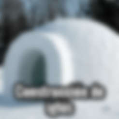 Télécharger STL gratuit Moule à brique à neige pour l'extérieur - Forteresse Igloo, Trikonics