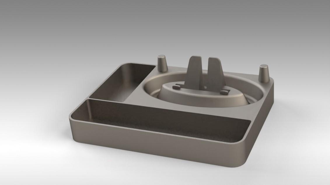 Untitled 16.jpg Télécharger fichier STL gratuit Organisateur de maquillage Smart Dock • Design à imprimer en 3D, Trikonics