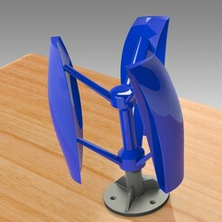 Untitled 722.jpg Download STL file PRO VERTICAL AXIS WIND TURBINE WITH OR WITHOUT OPTIONAL PRINTED BEARINGS • 3D printer template, Trikonics