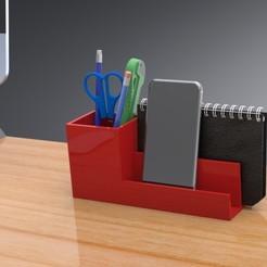 Archivos STL Organizador de escritorio con divisor, Trikonics