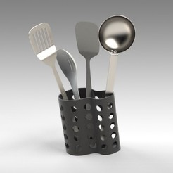 Download 3D print files Utensil Holder, Trikonics