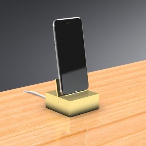 3D print files iPhone Dock - Contemporary Design, Trikonics