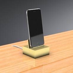 Download 3D printer model iPhone Dock - Contemporary Design, Trikonics