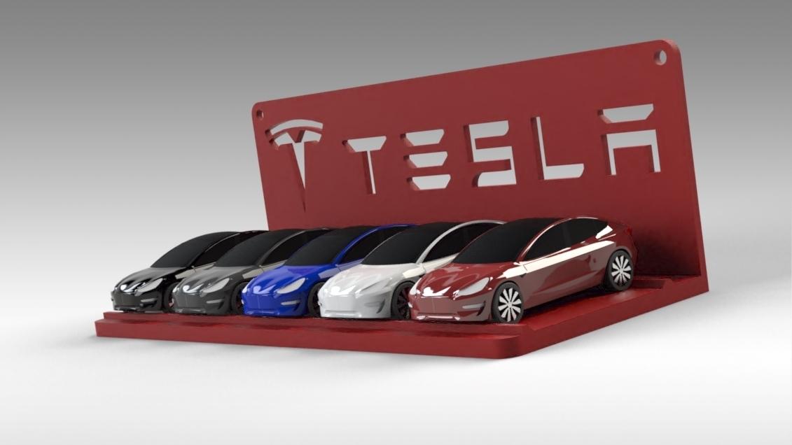 Untitled 687.jpg Download STL file Tesla Hot Wheels Stand • 3D printing model, Trikonics