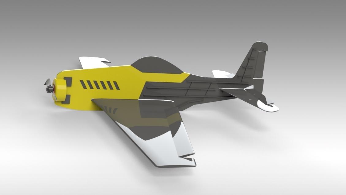 Untitled 626.jpg Download free STL file V1 Release - New RC Plane • 3D printable design, Trikonics