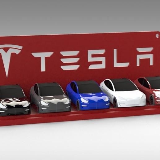 Untitled 688.jpg Download STL file Tesla Hot Wheels Stand • 3D printing model, Trikonics
