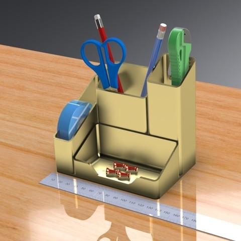 3D print model Desk / Tool Organizer, Trikonics