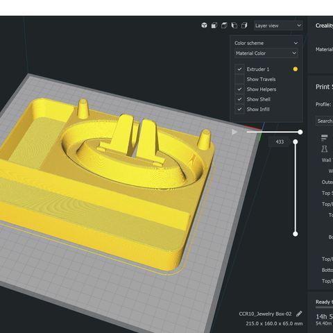 Jewelry Box Cura.JPG Télécharger fichier STL gratuit Organisateur de maquillage Smart Dock • Design à imprimer en 3D, Trikonics