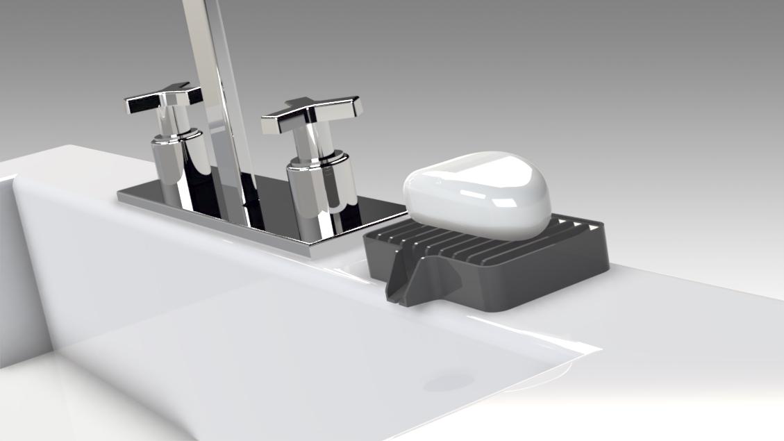 Untitled 627.jpg Télécharger fichier STL gratuit Porte-savon Lave-toi les mains, sois prudent 👍🏻 • Objet pour imprimante 3D, Trikonics