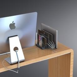 Modèle 3D Station de chargement et organiseur multi dock - Design contemporain, Trikonics