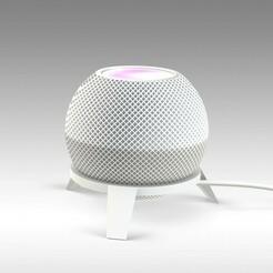 Untitled 721-3.jpg Télécharger fichier STL Mini stand Homepod Apple • Design pour imprimante 3D, Trikonics