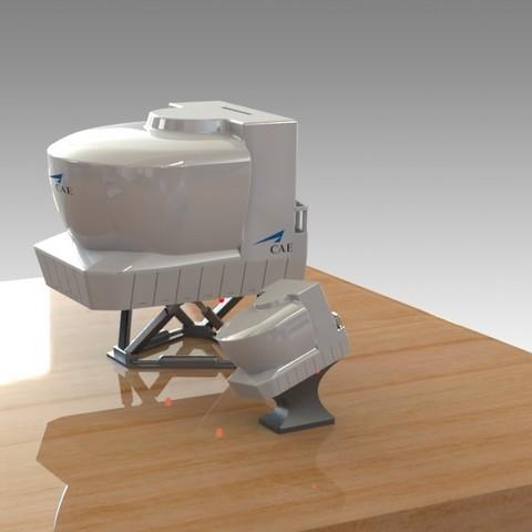 Impresiones 3D Simulador de CAE DE VUELO AEREO con BANCO DE CERDO OPCIONAL. NUEVO Mini Simulador Incluido, Trikonics